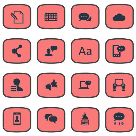 Vectorillustratiereeks Eenvoudige Gebruikerspictogrammen. Elements Share, Cedilla, Profile And Other Synoniemen Writing, Relation And Pen. Stockfoto - 77380893