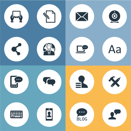 Illustration Set Of Simple User Icons. Elements Document, Repair, International Businessman And Other Synonyms Hand, Repair And Message.