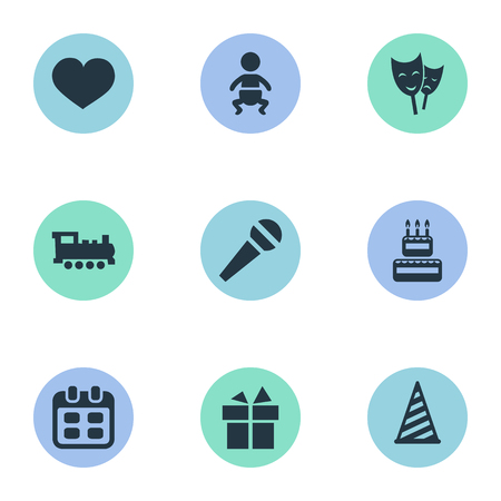 burning paper: Vector Illustration Set Of Simple Holiday Icons. Elements Cap, Soul, Speech And Other Synonyms Train, Heart And Days.