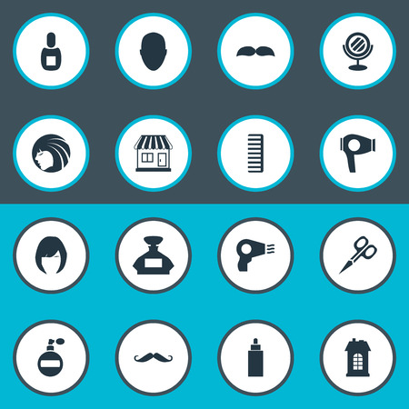 Vector Illustration Set Of Simple Beautician Icons. Elements Aroma, Hackle, Flask And Other Synonyms Tool, Beautiful And Construction.