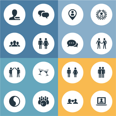 Vector Illustration Set Of Simple  Icons. Elements Gender, Fellows, Pinpoint And Other Synonyms Male, User And Female.