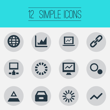 Vector Illustration Set Of Simple Analysis Icons