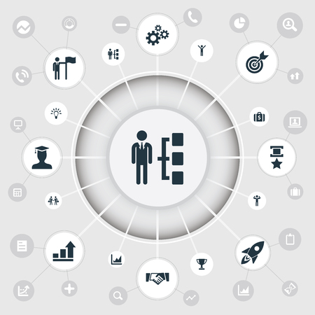 Vector Illustration Set Of Simple Success Icons