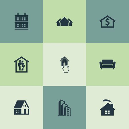 Vector Illustration Set Of Simple Real Icons Banco de Imagens - 82342663
