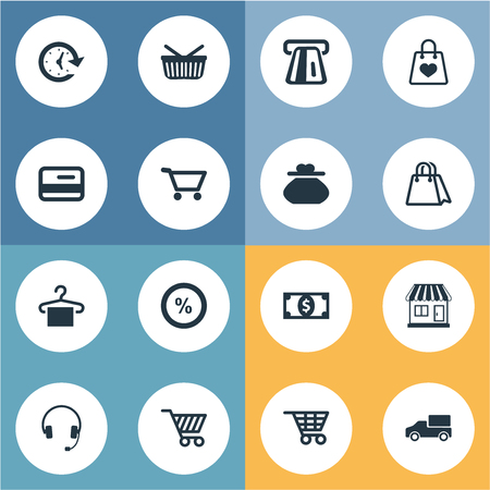 Vector Illustration Set Of Simple Purchase Icons