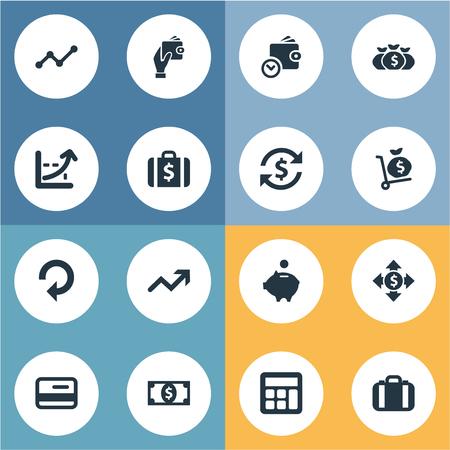 Vector illustratie Set van eenvoudige Bill Icons Stockfoto - 82342673