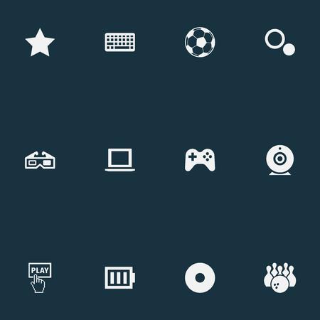 Vector illustratie Set van eenvoudige spel iconen
