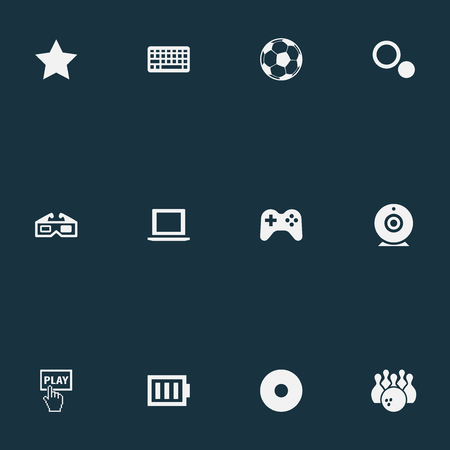 Vector Illustration Set Of Simple Game Icons