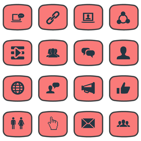 Vector Illustration Set Of Simple Social Media Icons