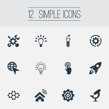 Vector Illustration Set Of Simple Creative Icons Illusztráció