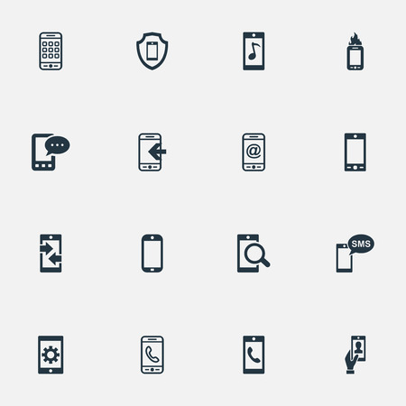 Vector Illustration Set Of Simple Mobile Icons