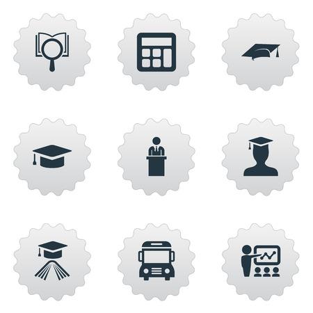 Vector Illustration Set Of Simple Knowledge Icons Illustration