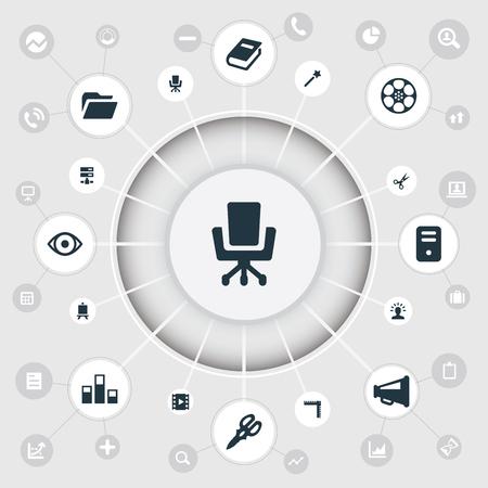 Vector Illustration Set Of Simple Design Icons Illustration