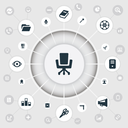 Vector Illustration Set Of Simple Design Icons Ilustrace