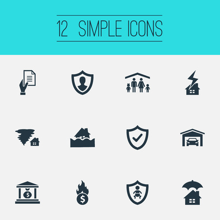 Vector Illustration Set Of Simple Fuse Icons