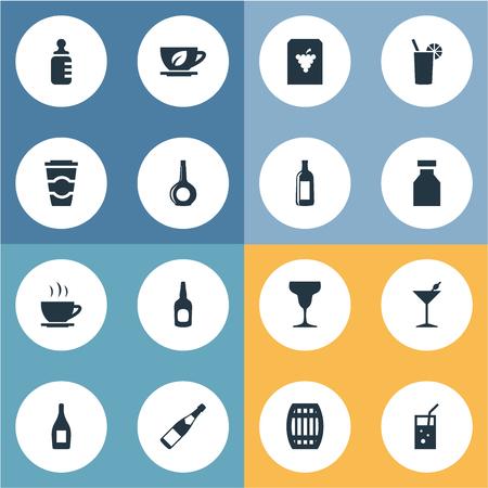 Vector Illustration Conjunto de iconos simples de agua Foto de archivo - 82342744