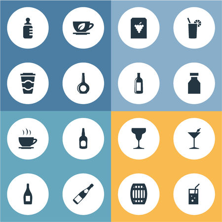 Vector Illustration Set Of Simple Water Icons