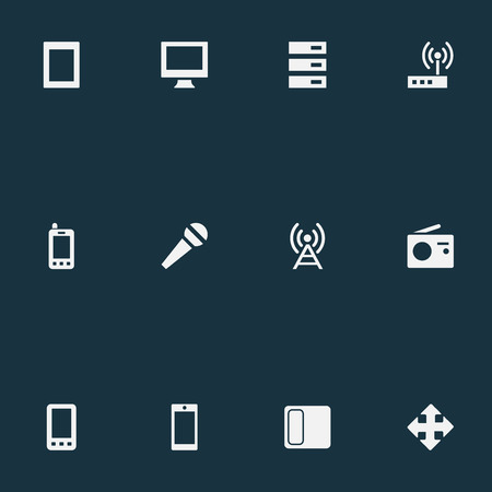 Vector Illustration Set Of Simple Digital Icons