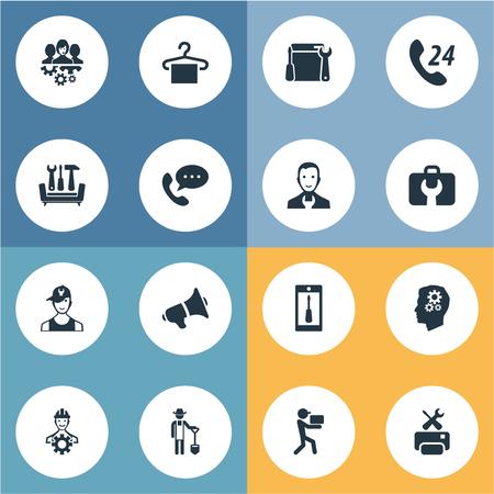 Vector Illustration Set Of Simple Help Icons Illustration