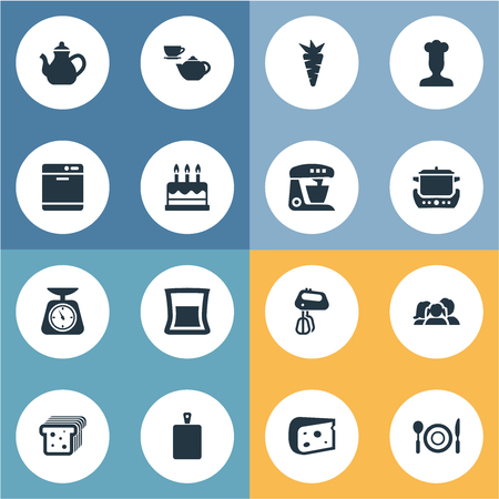 Vector Illustration Set Of Simple Cuisine Icons