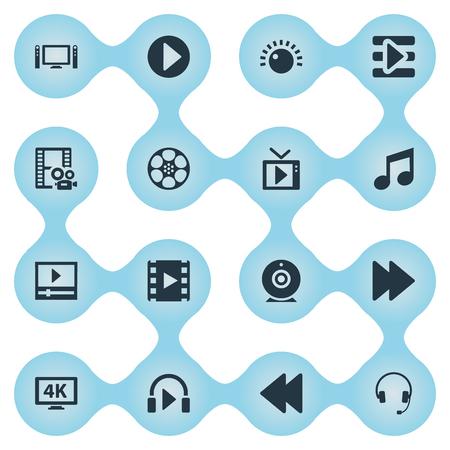 Vector illustratie Set van eenvoudige pictogrammen