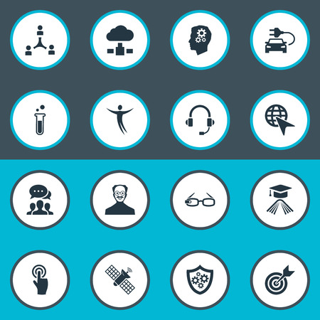 Vector Illustration Set Of Simple Solution Icons Illustration