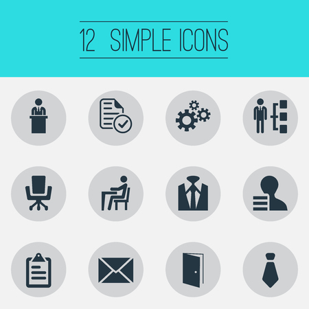 Vector Illustration Set Of Simple Human Icons