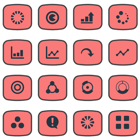 Vector Illustration Set Of Simple Graph Icons Illustration