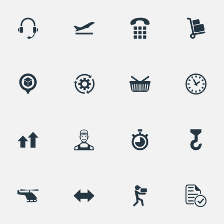 systematization: Vector Illustration Set Of Simple Engineering Icons