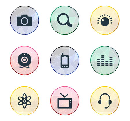 Vector Illustration Set Of Simple Gadget Icons