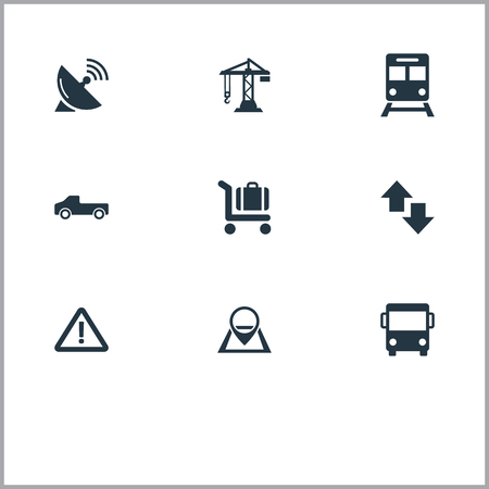Vector Illustration Set Of Simple Infrastructure Icons
