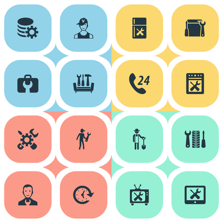 Vector Illustration Set Of Simple Support Icons