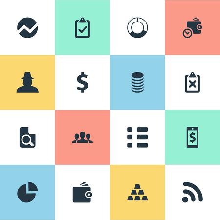 Vector illustratie Set van eenvoudige bankieren iconen Stock Illustratie
