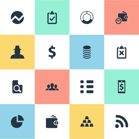 Vector Illustration Set Of Simple Banking Icons 向量圖像