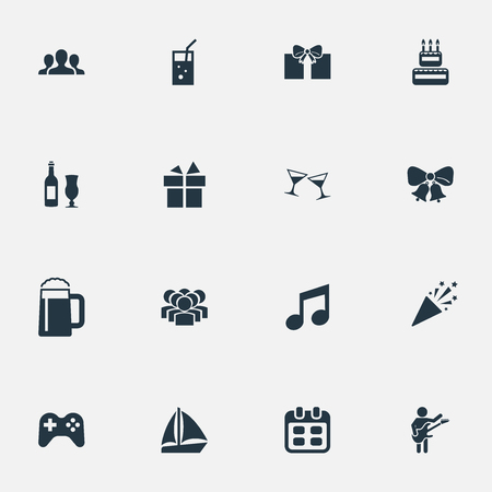 Vector Illustration Set Of Simple Banquet Icons Stock Vector - 82342779