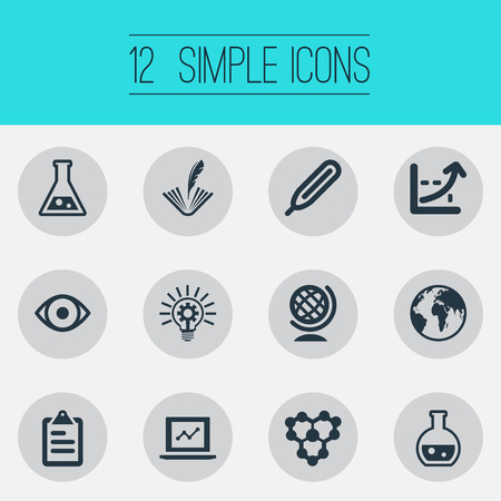 Vector Illustration Set Of Simple Science Icons