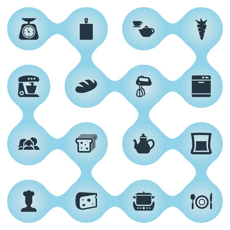 Vector Illustration Set Of Simple Gastronomy Icons