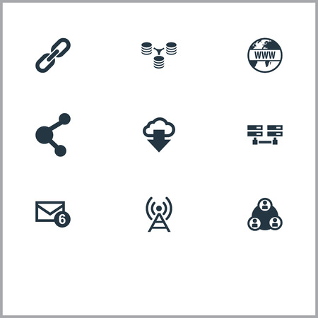 Vector Illustration Set Of Simple Network Icons Ilustrace