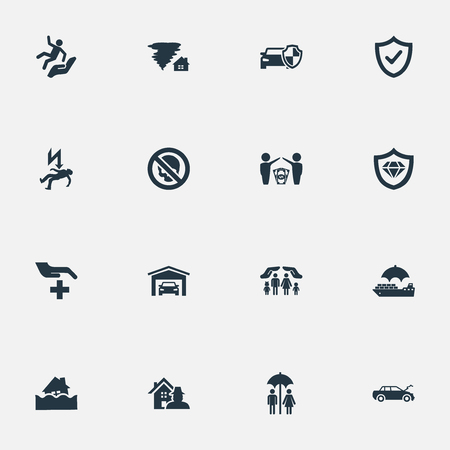 Vector Illustration Set Of Simple Guarantee Icons Reklamní fotografie - 82342793