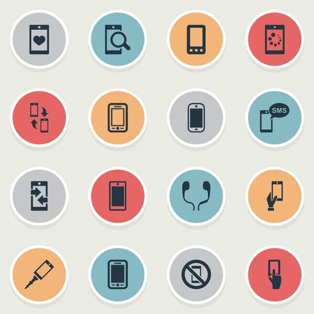 Vector Illustration Set Of Simple  Icons Ilustração