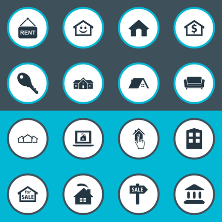 Vector Illustration Set Of Simple Property Icons Illustration