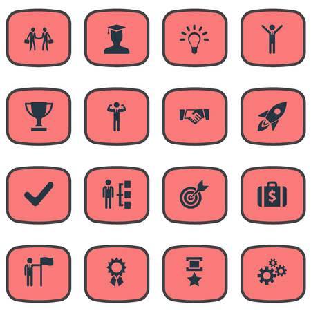 Vector Illustration Set Of Simple Winner Icons