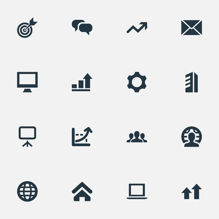 Vector Illustration Set Of Simple Startup Icons