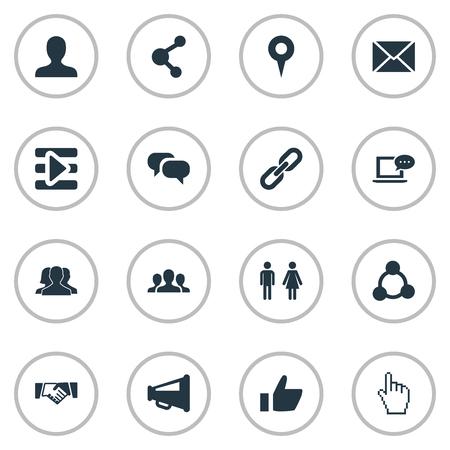 Vector Illustration Set Of Simple Social Media Icons