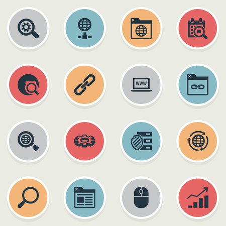 Vector Illustration Set Of Simple Search Icons Illustration