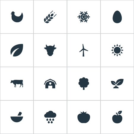 Vector Illustration Set Of Simple Energy Icons Çizim