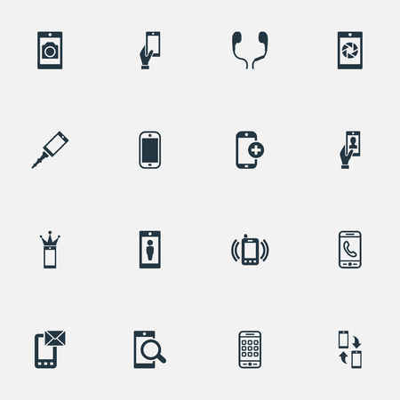 Vector Illustration Set Of Simple Telephone Icons Stock Vector - 82342835