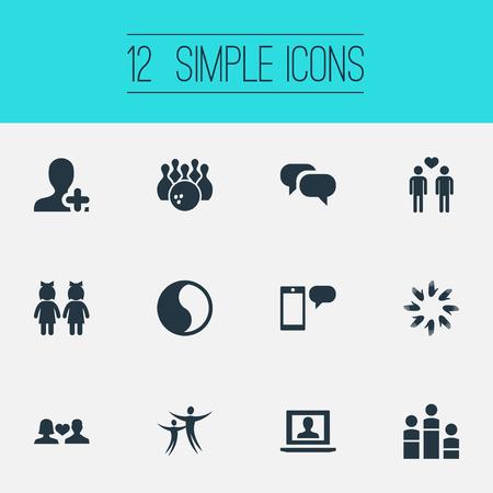 Vector Illustration Set Of Simple  Icons Illusztráció