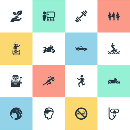 Vector Illustration Set Of Simple Health Icons Illustration