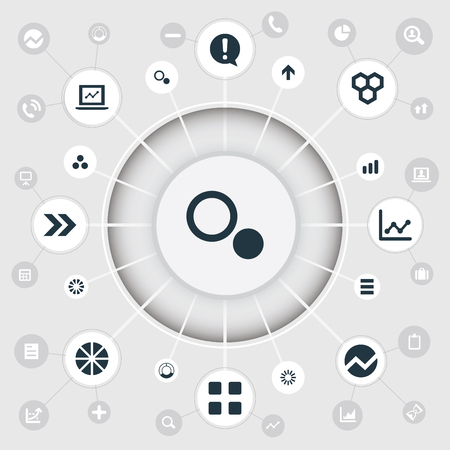 Vector Illustration Set Of Simple Graph Icons Ilustrace